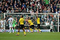 GRONINGEN - Voetbal, FC Groningen - VVV Venlo,  Eredivisie , Noordlease stadion, seizoen 2017-2018, 10-09-2017,   VVV Venlo  scoort de gelijkmaker 1-1