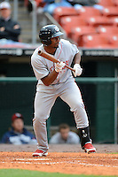 Lehigh Valley IronPigs outfielder Leandro Castro #18 during the first game of a double header against the Buffalo Bisons on June 7, 2013 at Coca-Cola Field in Buffalo, New York.  Buffalo defeated Lehigh Valley 4-3.  (Mike Janes/Four Seam Images)
