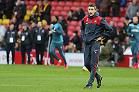 Assistant coach Bruno Lage oversees the players' warm up during the Premier League match between Watford and Swansea City at the Vicarage Road, Watford, England, UK. Saturday 30 December 2017