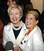 Boston, MA - July 25, 2004 -- United States Senator Hillary Rodham Clinton (Democrat of New York) poses with Janine Selendy, Democratic candidate for Congress from the 19th district of New York..Credit: Ron Sachs / CNP