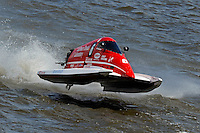"""Bud Nollman (#6) launches off a """"Bay City Roller"""". SST-45 class.Bay City River Roar, Bay City,Michigan USA.26-2821 June, 2009..©F. Peirce Williams 2009 USA.F.Peirce Williams.photography.ref: RAW (.NEF) File Available"""