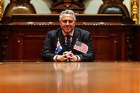 New York, April 14, 2015. Australian Treasurer Joe Hockey visit to New York Stock Exchange.