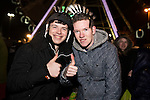 © Joel Goodman - 07973 332324 . 31/12/2013 . Manchester , UK . Tom Ainsley (20) and Jordan Livingstone (20) . Revellers gather in Piccadilly Gardens ahead of the New Years fireworks display to usher in 2014 . Photo credit : Joel Goodman