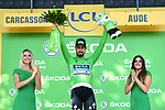 World Champion Peter Sagan (SVK) Bora-Hansgrohe retains the Green Jersey at the end of Stage 15 of the 2018 Tour de France running 181.5km from Millau to Carcassonne, France. 22nd July 2018. <br /> Picture: ASO/Alex Broadway | Cyclefile<br /> All photos usage must carry mandatory copyright credit (&copy; Cyclefile | ASO/Alex Broadway)