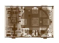 X-Ray of an Apple Ipod shuffle music player.
