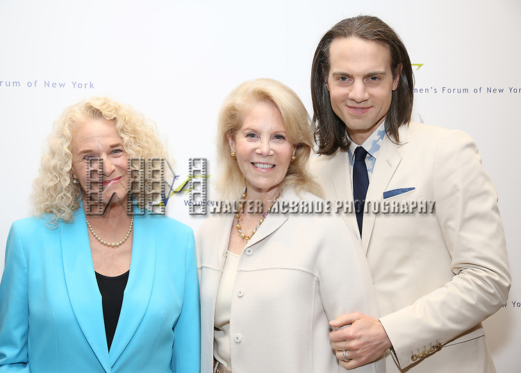 Carole King, Daryl Roth and Jordan Roth attends The 7th Annual Elly Awards at The Plaza Hotel on June 19, 2017 in New York City.