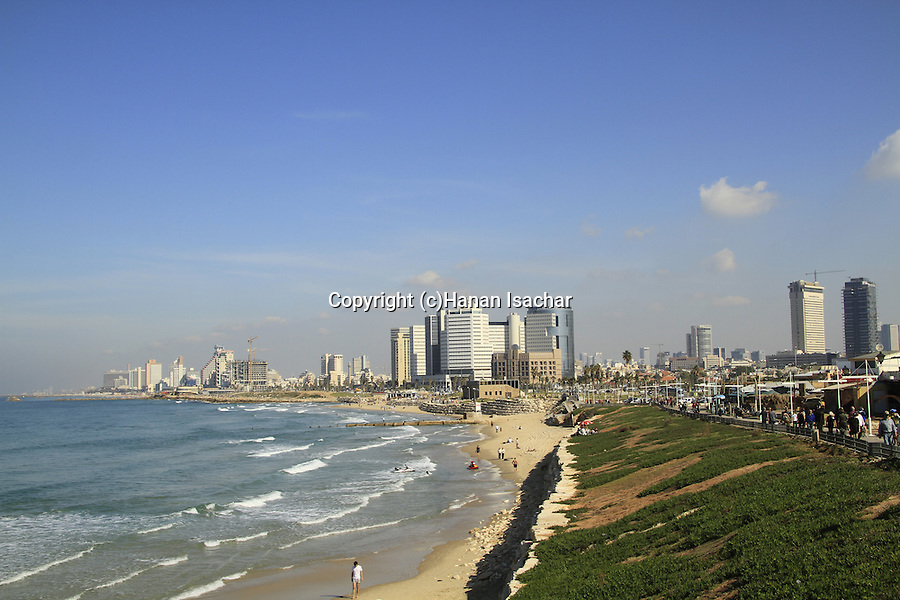 Israel, Tel Aviv-Yafo, a view of Tel Aviv as seen from Jaffa