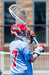 Orange, CA 05/17/14 - Tyler Olson (St John University #17) in action during the 2014 MCLA Division II Men's Lacrosse Championship game between Grand Valley State University and St John University at Chapman University in Orange, California.  Grand Valley Defeated St John 12-11.