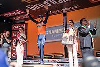 Vincenzo Nibali (ITA/Bahrain-Merida) wins the queen stage over the Stelvio Pass <br /> <br /> Stage 16: Rovett &rsaquo; Bormio (222km)<br /> 100th Giro d'Italia 2017