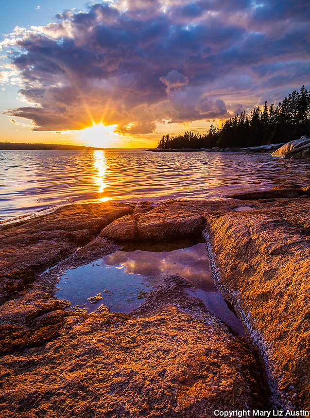 Deer Isle, Maine: Sunset on Jericho Bay
