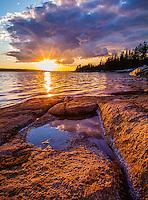 Deer Isle, Maine: Sunset on Jericho Bay