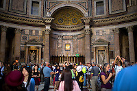 The interior of the Pantheon is seen on Thursday, Sept. 24, 2015, in Rome, Italy. (Photo by James Brosher)