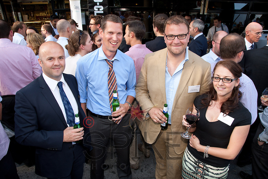 Taking time for a photo are left to right Andrew Cordon of Elwell Watchorn & Saxton, Sheldon Miller and Trevor Palethorpe of John Pye & Sons and Louise Carrington of RSM Tenon
