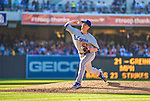 22 June 2013: Los Angeles Dodgers pitcher Zack Greinke on the mound against the San Diego Padres at Petco Park in San Diego, California. The Dodgers defeated the Padres 6-1 in the third game of their 4-game Divisional Series. Mandatory Credit: Ed Wolfstein Photo *** RAW (NEF) Image File Available ***