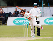 June 12th 2017, Trafalgar Road Ground, Southport, England; Specsavers County Championship Division One; Day Four; Lancashire versus Middlesex; Stephen Parry of Lancashire bowls this morning; Parry finished with figures of 5-45