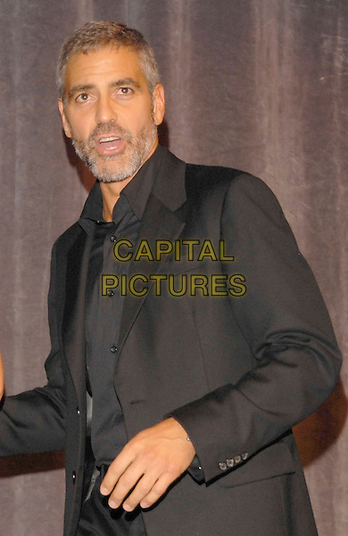 "GEORGE CLOONEY.""Michael Clayton"" Premiere during the 2007 Toronto International Film Festival held at Roy Thompson Hall, Toronto, Ontario, Canada,.07 September 2007..half length black suit jacket shirt.CAP/ADM/BP.©Brent Perniac/AdMedia/Capital Pictures."