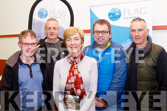 L-R Kenny O'Flaherty, Edward Hoare, Mary&Brian Murphy with Brendan Hoare all from Brandon at the book launch last Friday night in Halla Le Cheile.