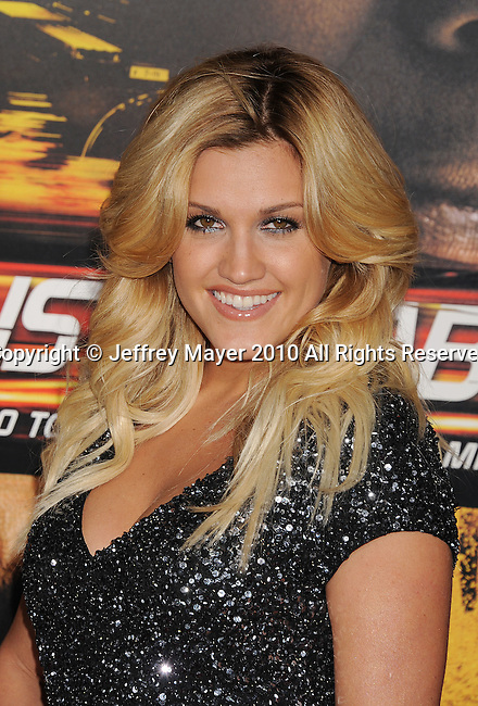 "WESTWOOD, CA. - October 26: Ashley Roberts of Pussycat Dolls arrives at the ""Unstoppable"" Los Angeles Premiere at the Regency Village Theatre on October 26, 2010 in Westwood, California."