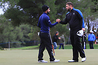 Francesco Laporta (ITA) makes his putt on the 18th green to win the Challenge Tour Grand Final 2019 at Club de Golf Alcanada, Port d'Alcúdia, Mallorca, Spain on Sunday 10th November 2019.<br /> Picture:  Thos Caffrey / Golffile<br /> <br /> All photo usage must carry mandatory copyright credit (© Golffile | Thos Caffrey)