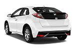 Car pictures of rear three quarter view of 2015 Honda Civic Comfort 5 Door Hatchback Angular Rear