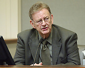 Reverend Al Archer, executive director of the Lighthouse Mission in Bellingham, Washington, testifies during the penalty phase of the trial of convicted sniper John Allen Muhammad in courtroom 10 at the Virginia Beach Circuit Court in Virginia Beach, Virginia on November 20, 2003.<br /> Credit: Lawrence Jackson - Pool via CNP