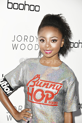HOLLYWOOD, CA - AUGUST 31: Skai Jackson attends the Jordyn Woods x boohoo launch party at Neuehouse on August 31, 2016 in Hollywood, CA. Credit: Koi Sojer/Snap'N U Photos/MediaPunch