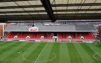 A general view of the stand prior to the Sky Bet League 2 match between Leyton Orient and Grimsby Town at the Matchroom Stadium, London, England on 11 March 2017. Photo by Carlton Myrie / PRiME Media Images.