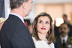 King Felipe VI of Spain and Queen Letitia during the visit to the Grupo Zeta for his 40º anniversary in Madrid, Spain. December 12, 2016. (ALTERPHOTOS/BorjaB.Hojas)