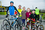at the St. Brendan's N.S. FENIT Coastal Cycle fundraiser for St Brendan's N.S were l-r  Lee Sugrue, Kieran Nolan, Muireann Finn, Ronan Kelly and Bobby Sugrue