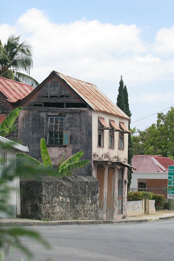 Speightstown Architecture.St. James Parish.Barbados.