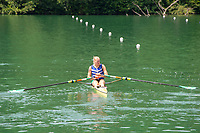 Lucerne, SWITZERLAND, 12th July 2018, Friday  FISA World Cup series, No.3, Lake Rotsee, Lucerne,  Sanita PUSPURE, IRL W1X, cools down, wearing Cooling Vest, after the race, Photographer Karon PHILLIPS