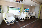 "JADA Doping Control Station Car, MARCH 7, 2013 : Japan Anti-Doping Agency (JADA) displayed a JADA's Mobile Multi-function Anti-Doping Unit ""JADA CAR in Tokyo, Japan. The IOC evaluation commission, led by Reedie, began a four-day inspection of Tokyo's bid to host the 2020 Olympics. (Photo by Yusuke Nakanishi/AFLO SPORT)"
