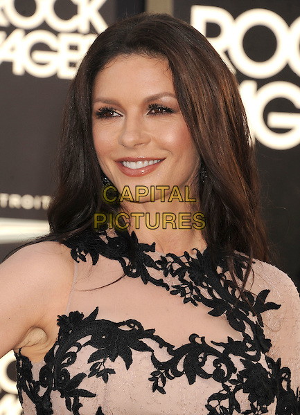 "Catherine Zeta-Jones.The Los Angeles Premiere of ""Rock Of Ages"" at Grauman's Chinese Theatre in Hollywood, California, USA..June 8th, 2012.headshot portrait flesh nude beige black lace black .CAP/ROT/TM.©Tony Michaels/Roth Stock/Capital Pictures"