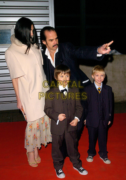 "NICK CAVE & FAMILY.Attending the ""Doctor Who"" Christmas Special Gala Screening held at the Science Museum,.London, England, December 19th 2007..Dr Dr. full length family children.CAP/CAN.©Can Nguyen/Capital Pictures"