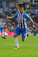 Anthony Knockaert of Brighton & Hove Albion (11) during the Premier League match between Brighton and Hove Albion and Everton at the American Express Community Stadium, Brighton and Hove, England on 15 October 2017. Photo by Edward Thomas / PRiME Media Images.