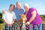 The annual Kerry Bog Pony show and sale will take place on Saturday, September 22nd at the Red Fox Inn in Glenbeigh. .L-R The Kerry Bog Pony Co-Operative Society Mossie Pierce, John Mulvihill (PRO) and Anna McCarthy (Vice-Chairperson) with 'Bramble'.