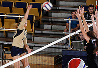 Florida International University women's volleyball player Marija Prsa (10) plays against Arkansas State University.  FIU won the match 3-2 on October 21, 2011 at Miami, Florida. .