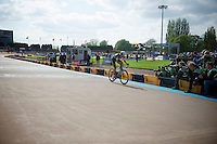 Niki Terpstra (NLD/OPQS) has another lap to go before finishing/winning the 2014 Paris-Roubaix