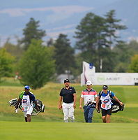Joel Sjoholm (SWE) on the 5th fairway during Round 1 of the D+D Real Czech Masters at the Albatross Golf Resort, Prague, Czech Rep. 31/08/2017<br /> Picture: Golffile | Thos Caffrey<br /> <br /> <br /> All photo usage must carry mandatory copyright credit     (&copy; Golffile | Thos Caffrey)