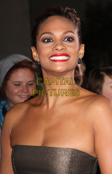 ALESHA DIXON.Variety Club Showbiz Awards held at the Grosvenor House Hotel, Park Lane, London, England..November 15th, 2009.headshot portrait strapless brown red lipstick .CAP/ROS.©Steve Ross/Capital Pictures.