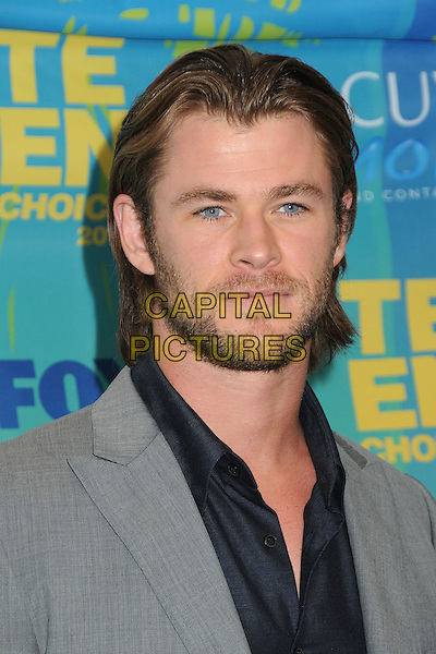 Chris Hemsworth.2011 Teen Choice Awards - Press Room held at Gibson Amphitheatre, Universal City, California, USA..August 7th, 2011.headshot portrait grey gray blue stubble facial hair .CAP/ADM/BP.©Byron Purvis/AdMedia/Capital Pictures.