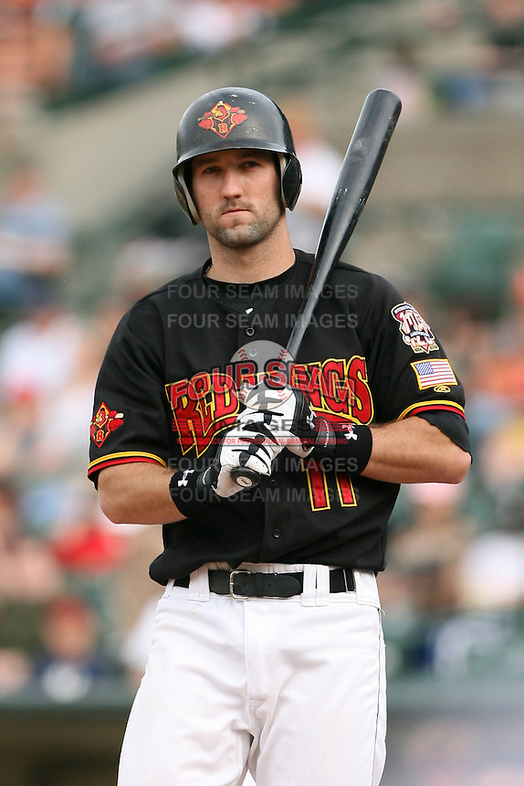 May 26th, 2008:  Jason Pridie (11) of the Rochester Red Wings, Class-AAA affiliate of the Minnesota Twins, during a game at Frontier Field in Rochester, NY.  Photo by:  Mike Janes/Four Seam Images