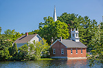 Brick mill buildings in Harrisville, Monadnock Region, NH