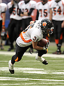 November 26, 2010:   Caledonia-Muford Red Raiders varsity football against the Tuckahoe Tigers during the Class-D NYSPHSAA state championship game at the Carrier Dome in Syracuse, New York.  Tuckahoe defeated Cal-Mum 27-0.  (Copyright Mike Janes Photography)