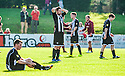 Fraserburgh players are distraught at full time after being dumped out of the Scottish Cup.