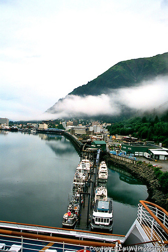 Docking into Juneau Port, Alaska