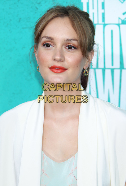 Leighton Meester.2012 MTV Movie Awards held at the Gibson Amphitheatre, Universal City, California, UA..June 3rd, 2012.headshot portrait white blue lipstick red .CAP/ADM/RE.©Russ Elliot/AdMedia/Capital Pictures.