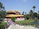 The Royal Residence (Phra Thinang) of the Thai summer palace of Bang Pa-In, near Ayutthaya and Bangkok.