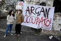 Roma, 30 Novembre 2016<br /> Liceo artistico Argan.<br /> Studentesse e studenti occupano la scuola contro la riforma del Governo Renzi.<br /> Murales, pulizie, corsi e assemblee in autogestione.