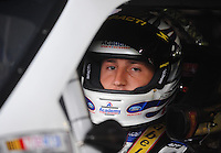 Oct. 30, 2009; Talladega, AL, USA; NASCAR Sprint Cup Series driver Erik Darnell during practice for the Amp Energy 500 at the Talladega Superspeedway. Mandatory Credit: Mark J. Rebilas-